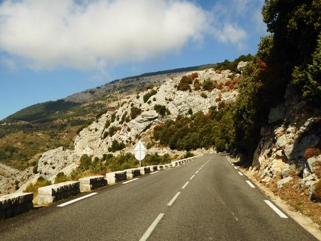 "We ride the famous ""Route Napoleon"""