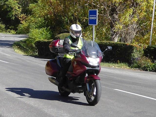 David on his Honda Deauville