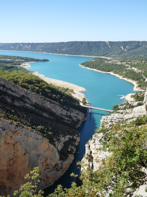 Amazing view at the end of the Gorges