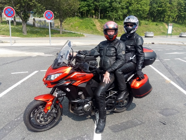 Robert & Janet on their Versys 1000