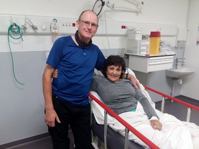 And best wishes for a speedy recovery to Esther who with Kevin tumbled off before the tour started and broke her leg above her ankle!!