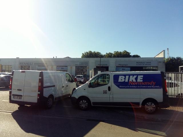 It breaks down so we have to hire a van!