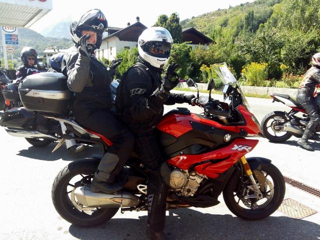 Simon & Helen on their BMW S1000XR