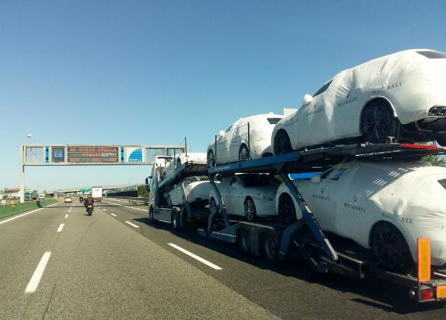 A cargo of Maseratis