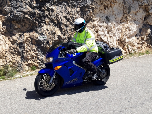Andy on his VFR 800