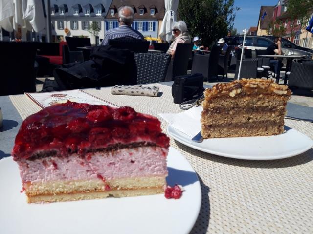 Raspberry & Walnut cakes