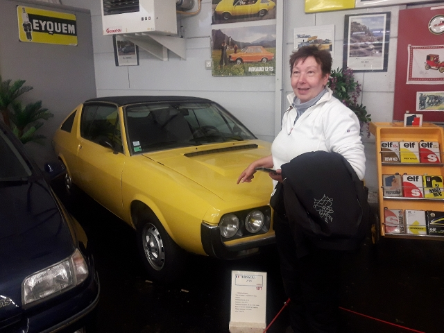 Others visit the Car Museum - Sandra with her first car - a Renault 17 !