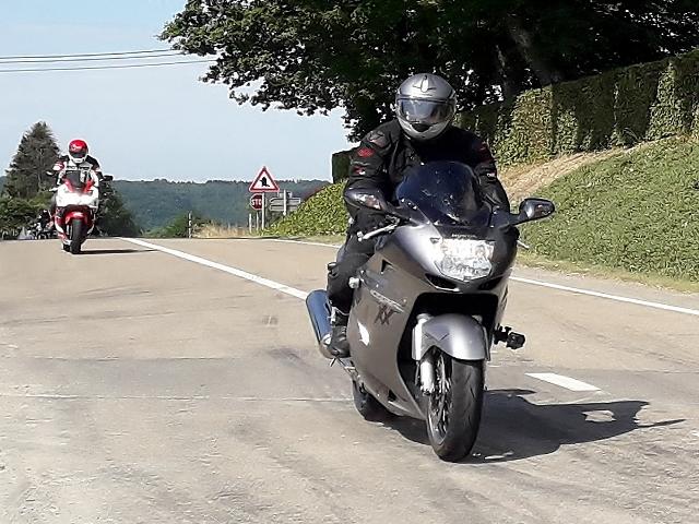 Andy M on his Honda Blackbird