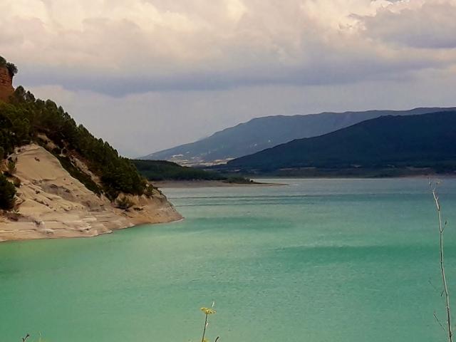 Ride alongside the stunning lake